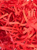ОПТ Бумажный наполнитель красный, декоративная стружка 500 грамм