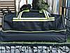 Сумка на колесах S-034 Sky Travel большая, черный+салатовый, фото 3