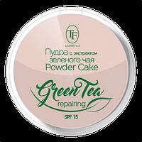 Пудра для обличчя Triumf Compact Powder Green Tea тон 03 Пісочний беж
