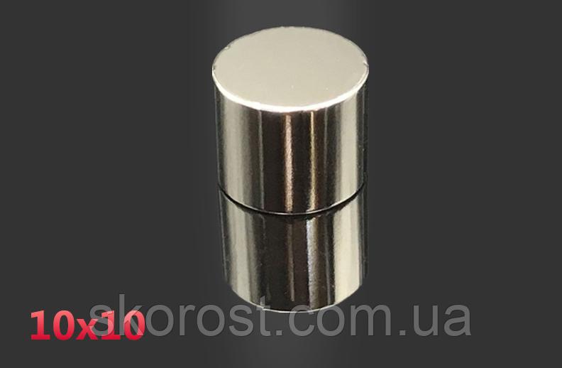 Неодимовый магнит D10*H10 мм