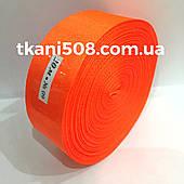 Атласна стрічка 2,5 см - яскраво-оранжевий