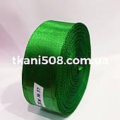 Атласная лента 2,5 cм - цвет зеленый