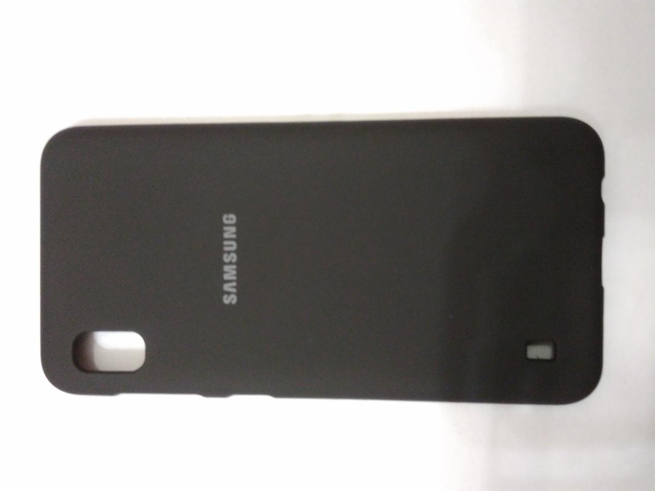 Накладка   Silicon Cover full   для  Samsung A10  2019  (черный)