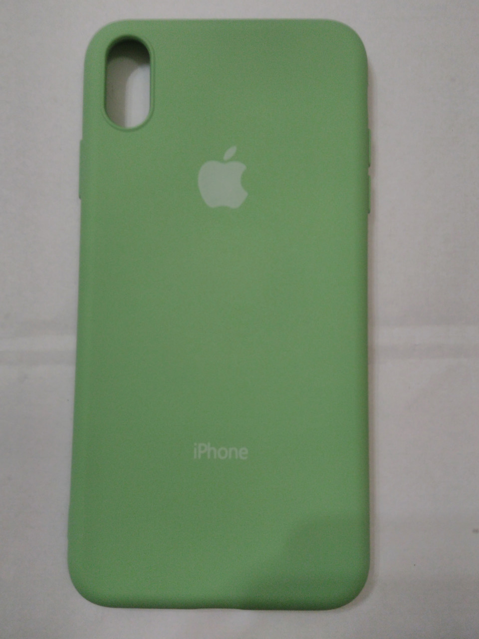Накладка   Silicon Cover full   для  iPhone  XS  MAX 6.5  (мятный)
