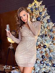 Платье «Сюзанна», мерцающая сеточка с пайеткой + подкладка. Размер:42-44. Цвета разные (Сюзанна)