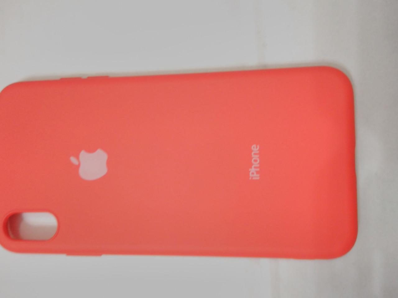 Накладка   Silicon Cover full   для  iPhone  XS  MAX 6.5  (красный)