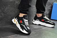 Мужские кроссовки черно-белые с красным Adidas x Yeezy Boost 700 OG 7312