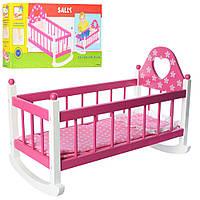 Кровать для куклы типа Baby Born TM Bino из дерева с постелькой