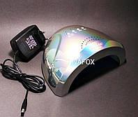 Лампа UV/LED для наращивания ногтей  Sun One  48вт, голографическая серебро