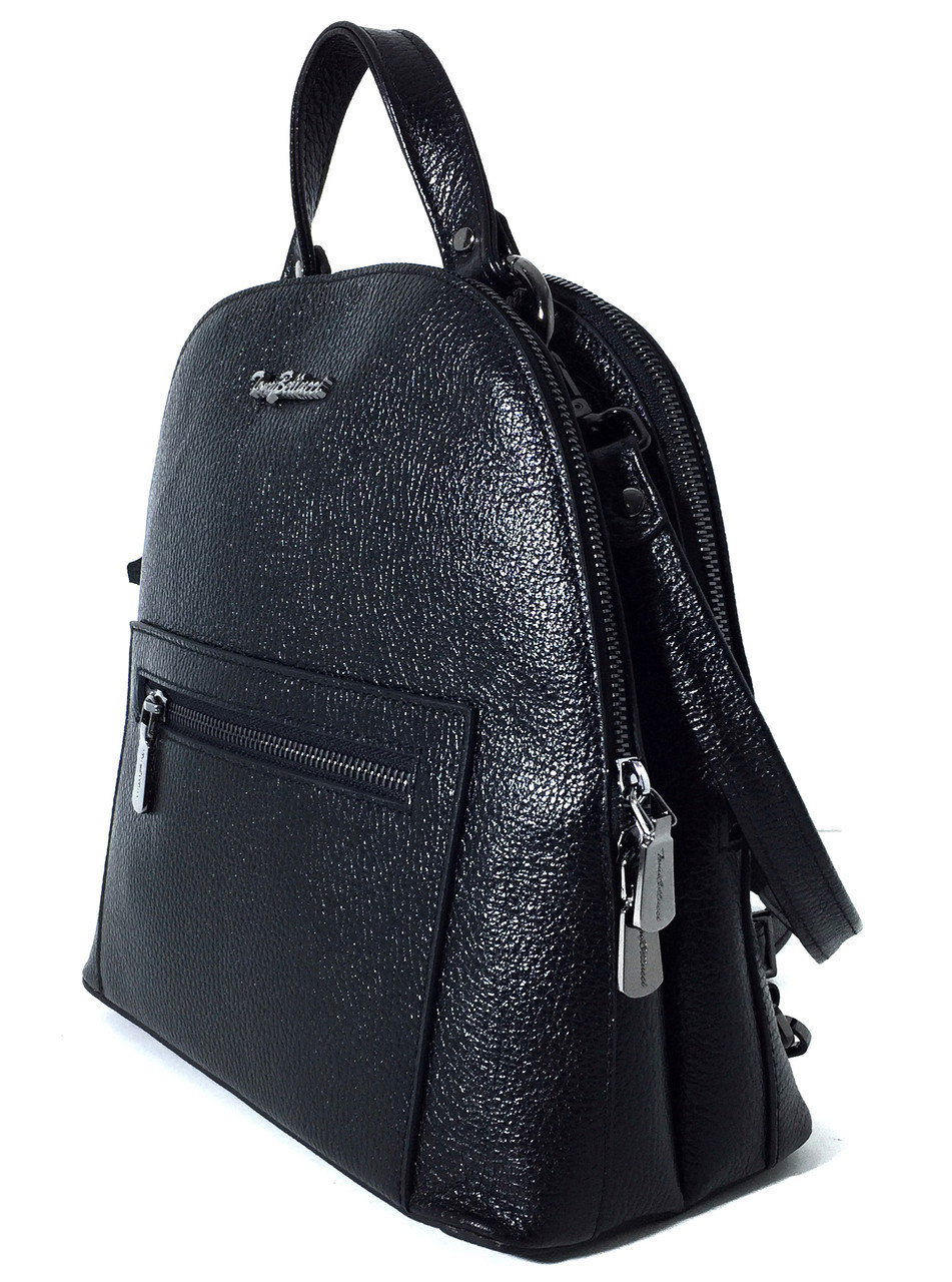 S-0-220 Рюкзак Tony Bellucci черный, кожа флотар