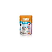 Клуб 4 Лапы, лосось в желе для кошек, 100г (упаковка 24 шт)