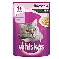 Вискас Консервы 1+ Лосось в соусе 100 г (упаковка 24 шт)