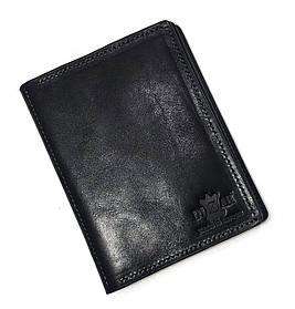Обложка на паспорт + автодокуметы Dizar кожа гладкая, черная