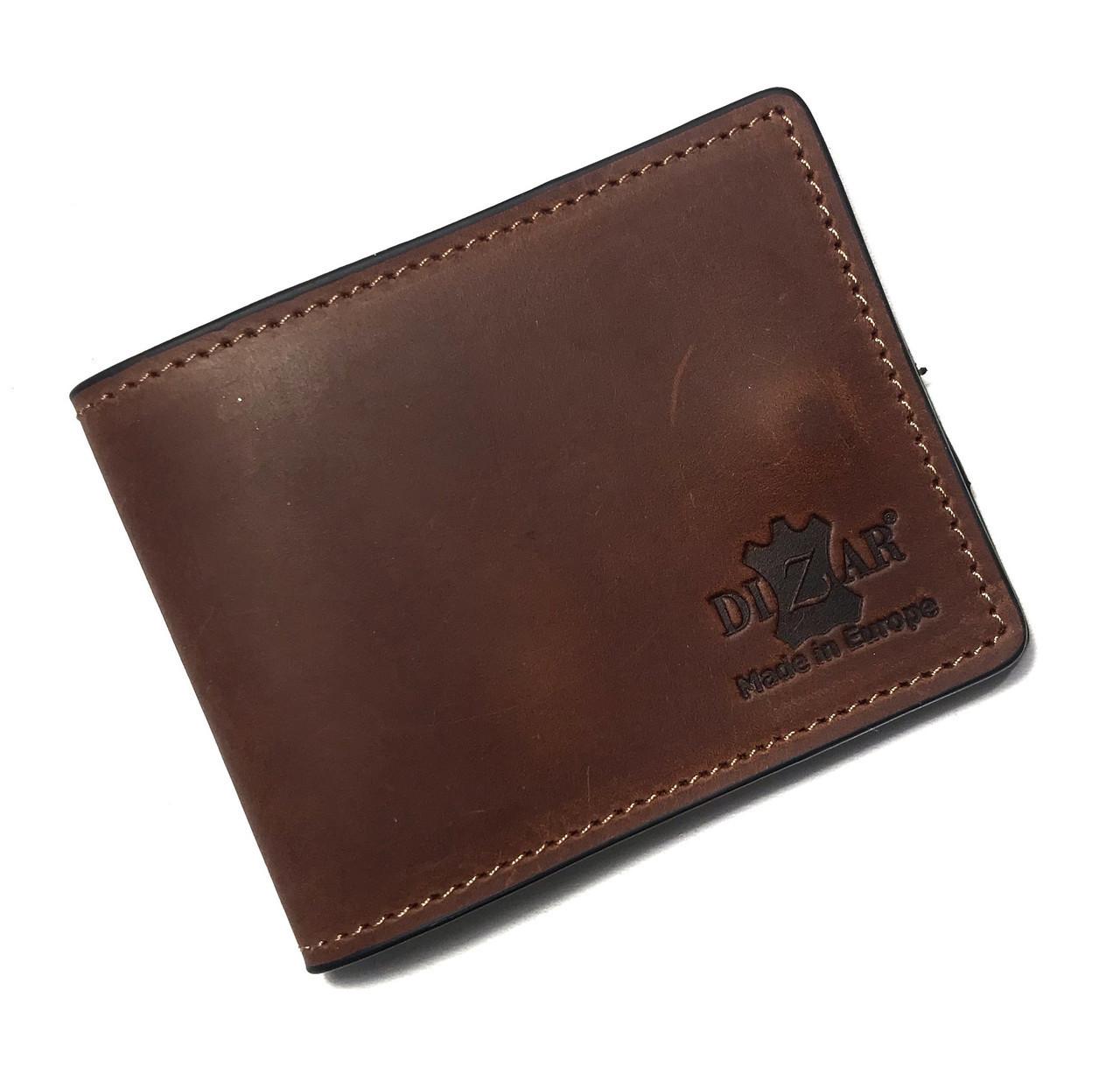 Card Case Dizar кожа крейзи, коричневый