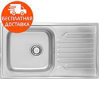 Мойка для кухни ULA HB 7204 ZS Satin нержавеющая сталь