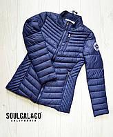 Женская куртка SoulCal соулкол  Оригинал демисезонная весна осень синяя размер S, М