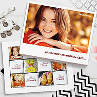 Шоколадный набор с Вашим фото и текстом