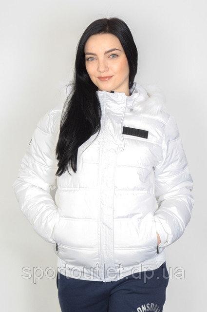 Куртка женская зимняя с капюшоном Everlast Эверласт белая S Оригинал