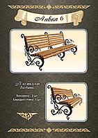 Кованые дачные скамейки