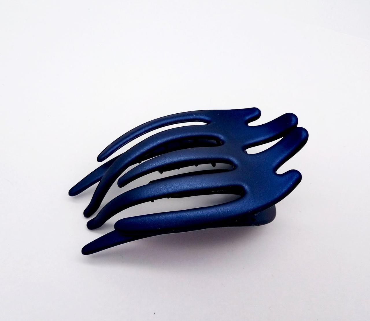 Заколка краб боковой синяя