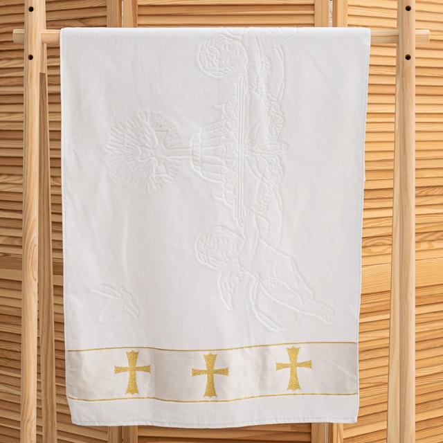 Крыжма для крестин с вышивкой