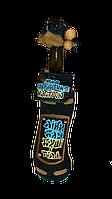 Бутылка с кожаным переплётом