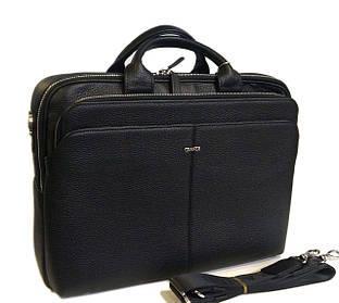 Портфель Grande S-6870 кожа черная