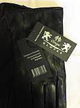 Кожаные мужские перчатки, подкладка мех (размеры 11,5-13,5), фото 4