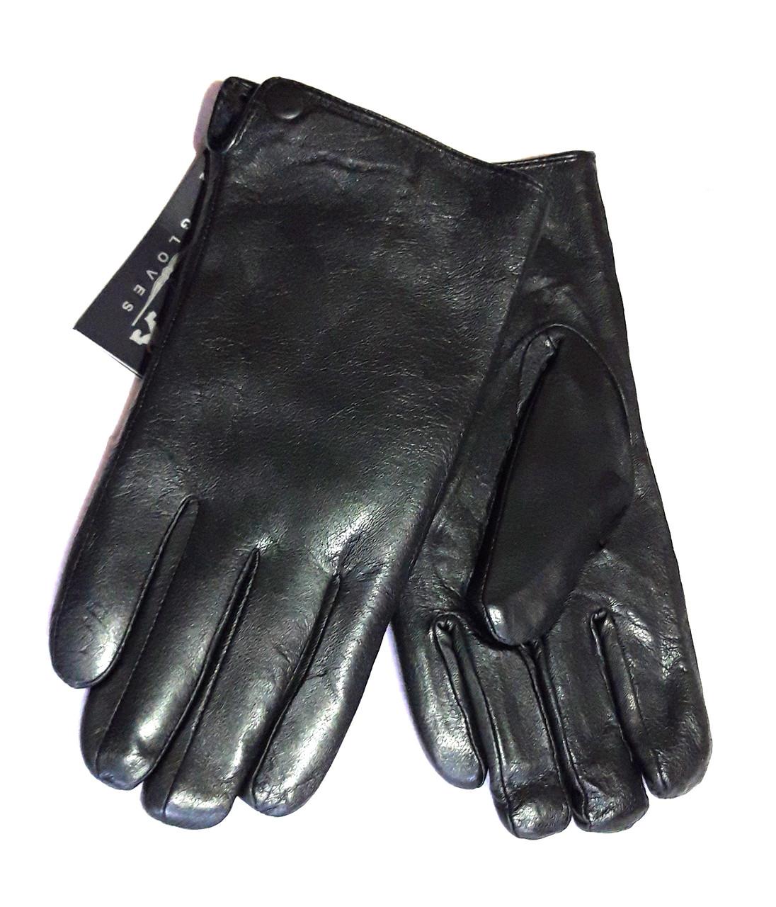 Кожаные мужские перчатки, подкладка мех (размеры 11,5-13,5)