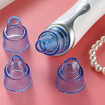 Вакуумный аппарат для чистки лица и пор Lesko B1806 очиститель кожи пороочиститель 4 насадки, фото 2