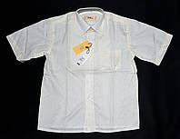 Белая рубашка на мальчика. Короткий рукав. 28-36