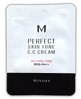 CC крем для лица Missha M Perfect Skin Tone CC Cream #1 Vital Tone, фото 1