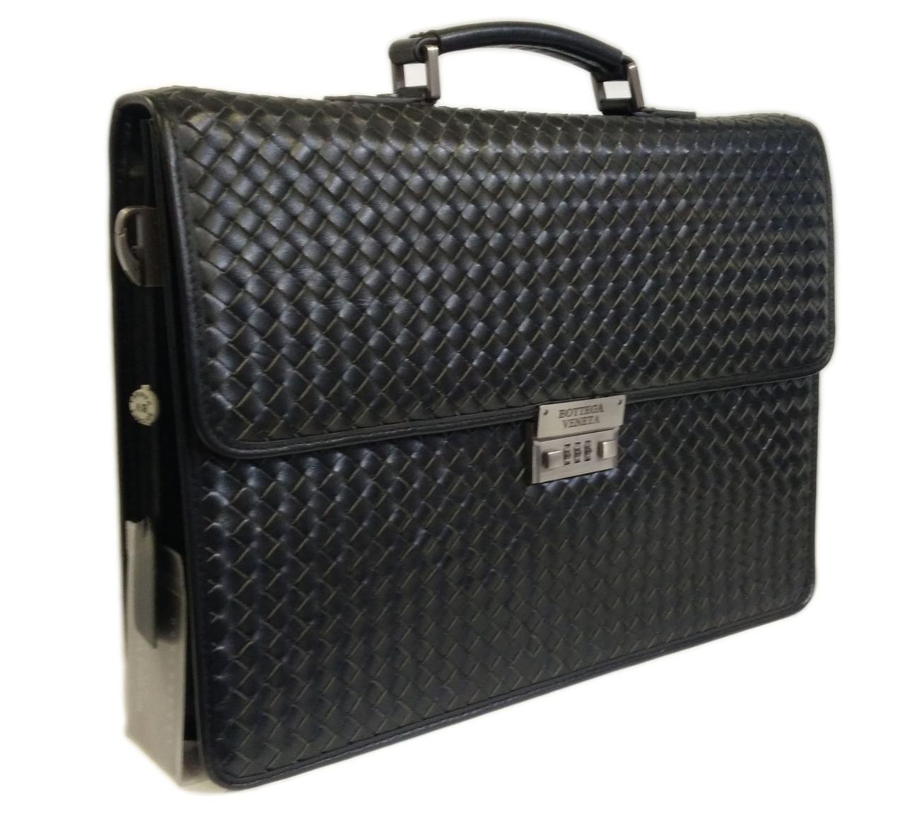 108-6616-2 Bottega Veneta портфель кожа черная плетенка