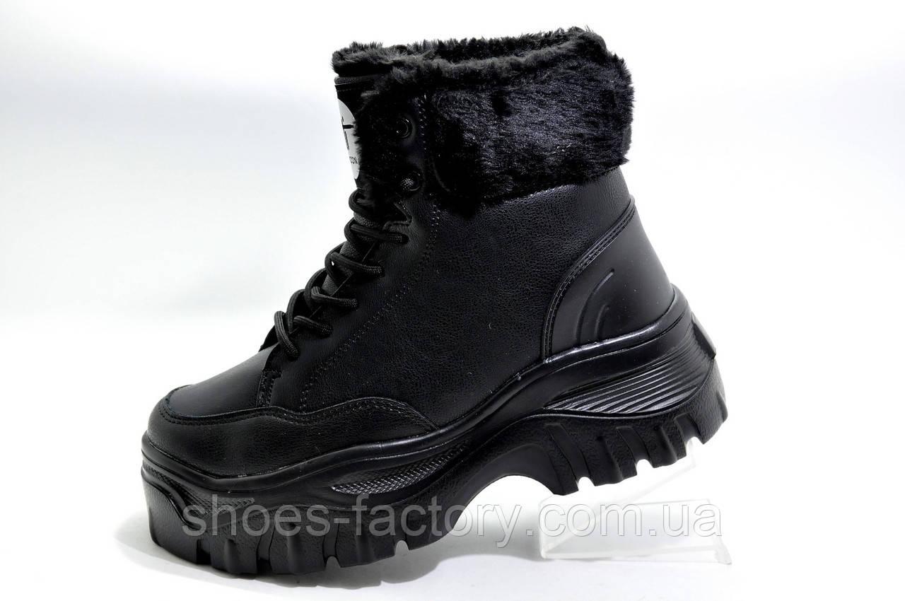 Зимние кроссовки на высокой платформе, на меху