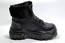 Зимние кроссовки на высокой платформе, на меху, фото 3