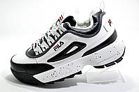 Зимние кроссовки в стиле Fila Disruptor 2 White\Black (На меху)