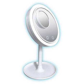 Зеркало 3 в 1 с подсветкой Brise Fraiche Led косметическое для нанесения макияжа с вентилятором светодиодная