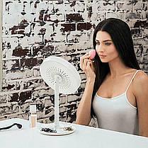 ☛Зеркало 3 в 1 с подсветкой Brise Fraiche Led косметическое для нанесения макияжа с вентилятором светодиодная, фото 2