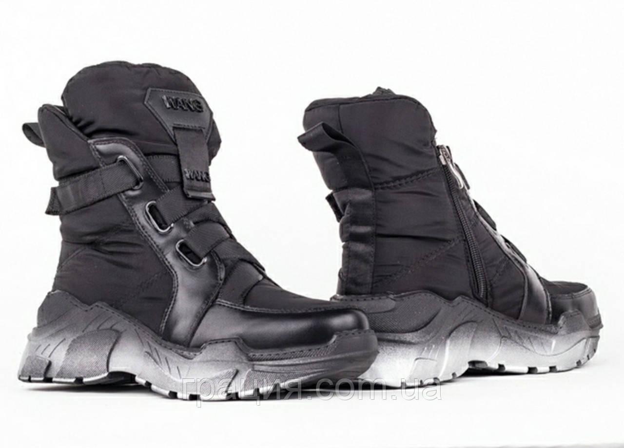 Стильні молодіжні зимові кросівки болоневые