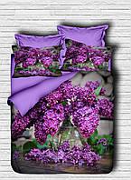 Постельное белье LIGHT HOUSE 200х220 ranforce 3D рисунок Purple Lilac