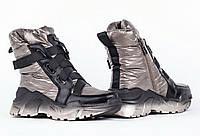 Стильные молодежные зимние болоневые кроссовки, фото 1