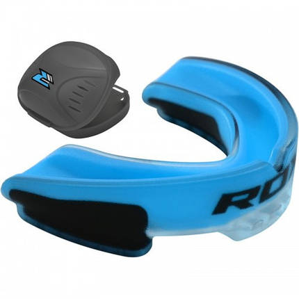 Капа боксерская RDX GEL 3D Elite Blue, фото 2