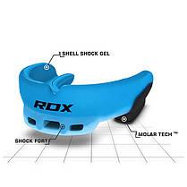 Капа боксерская RDX GEL 3D Elite Blue, фото 3