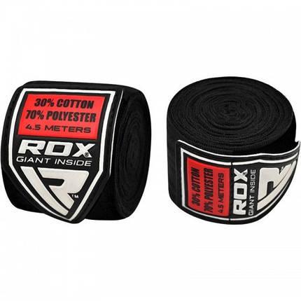 Бинты боксерские RDX Fibra Black 4.5m, фото 2