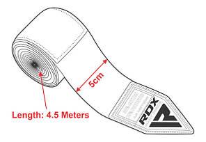 Бинты боксерские RDX Fibra Pink 4.5m, фото 3