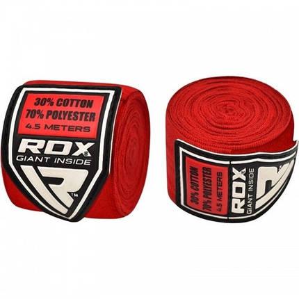 Бинты боксерские RDX Fibra Red 4.5m, фото 2