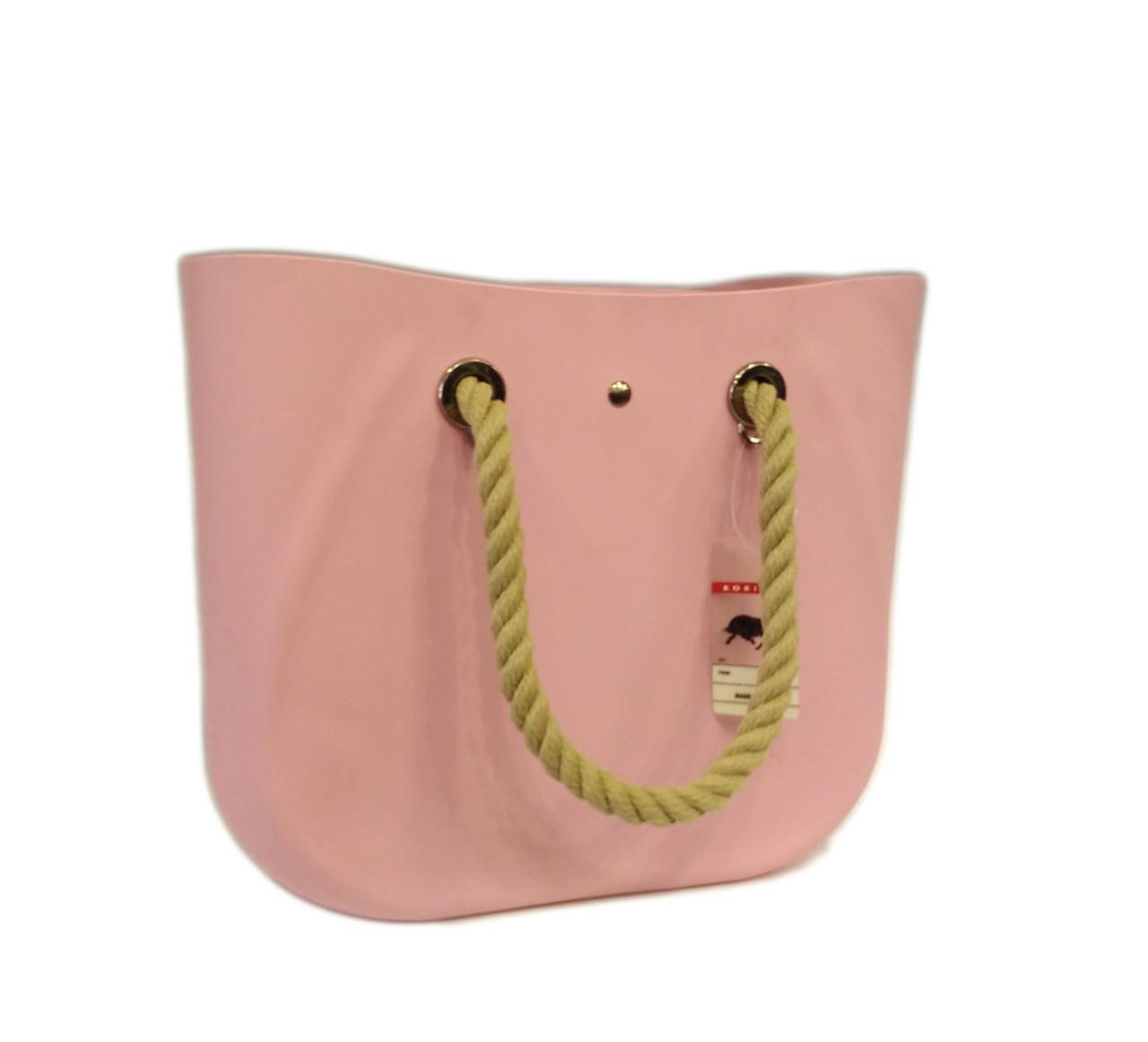 Сумка женская DIZAR из каучука нежно розовая