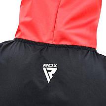 Костюм для похудения с капюшоном RDX Red New XL, фото 3