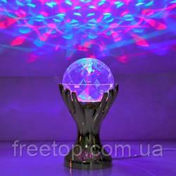 Диско лампа Шар в Руках Laser LED Full Color Rotating Lamp