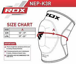 Наколенник муай тай RDX Neoprene(1шт.) L/XL, фото 3
